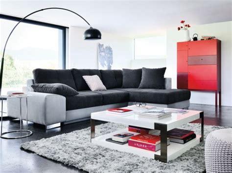 enseigne canapé canapé gris et noir meuble fly rêver habitat