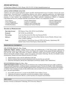 it technical analyst resume sle it system support resume sales support lewesmr