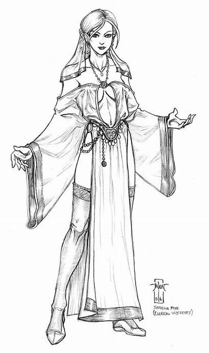 Deviantart Vestments Sareena Everwho Fantasy Drawings Foxe