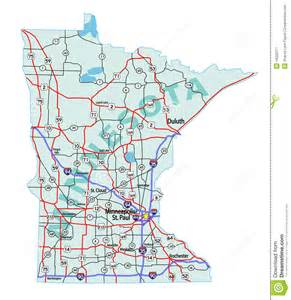 mn road map minnesota state interstate map royalty free stock photography image 19026217