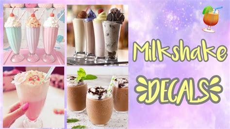roblox bloxburg milkshake decal ids doovi