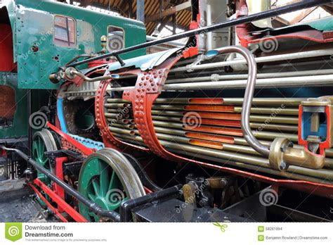 Inner Workings Of Steam Train Stock Photo