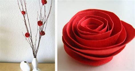 membuat hiasan bunga mawar  karton kumpulan ide