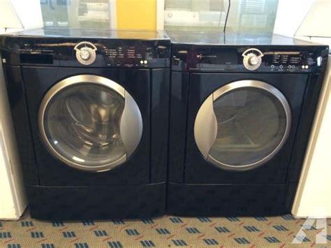 black washer and dryer frigidaire black front load washer dryer set pair