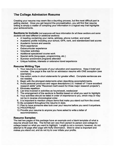 college resume template   templates   word