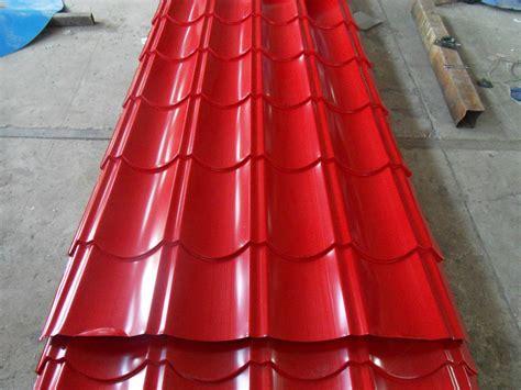buy pre painted galvanized corrugated steel  brick red pricesizeweightmodelwidth okordercom