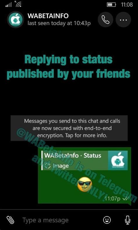 whatsapp beta version 2 17 44 for windows phone gets new status features