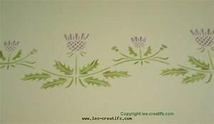 Faire Un Pochoir : frise au motif fleur au pochoir ~ Premium-room.com Idées de Décoration