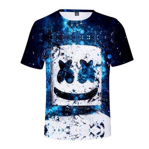 cheap cool marshmello face  shirt unisex short sleeves