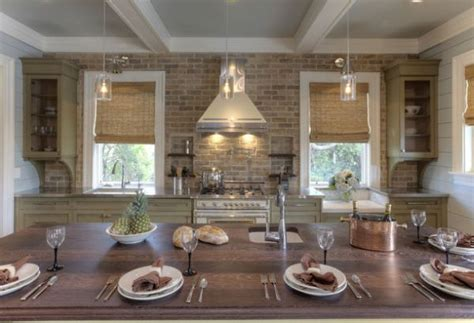 Kitchen Brick Backsplashes-for Warm And Inviting Cooking