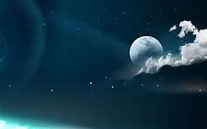 Moon and Stars Desktop Wallpaper - WallpaperSafari