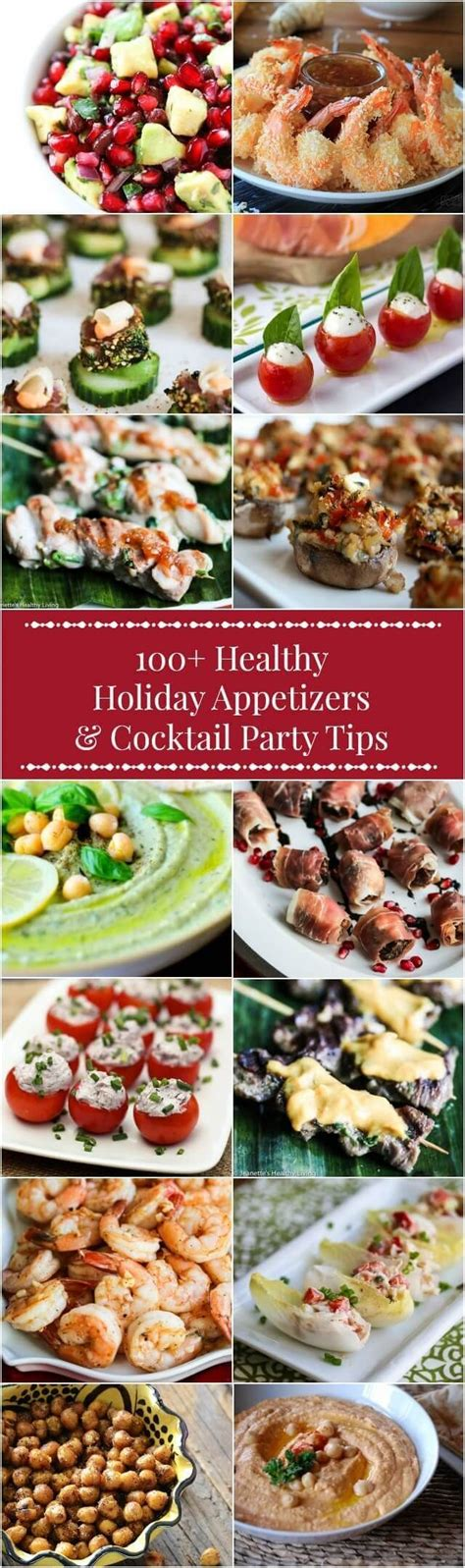 100 healthy holiday appetizer recipes cocktail party