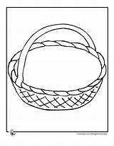 Basket Baskets Printable Coloring Easter Empty Pages Drawing Craft Template Crafts Activities Preschool Printables Woojr Fruit Sheets Jr Kid Woo sketch template