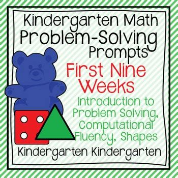kindergarten math problem solving prompts nine weeks 719 | original 817441 1