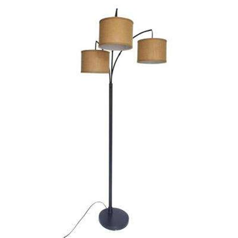 hton bay 80 in antique bronze 3 arc floor l ls shades lighting ceiling fans the home depot