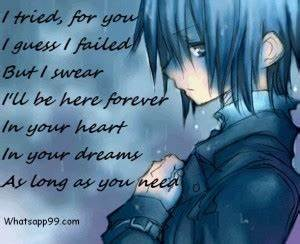 Sweet But Sad Q... Anime Boy Quotes
