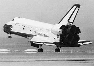 """space shuttle: """"Columbia"""" first flight and landing, 1981 ..."""