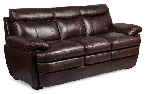 marty genuine leather sofa brown  brick