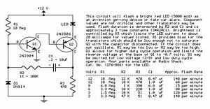 Two Transistor Led Flasher Circuit Diagram And Instructions