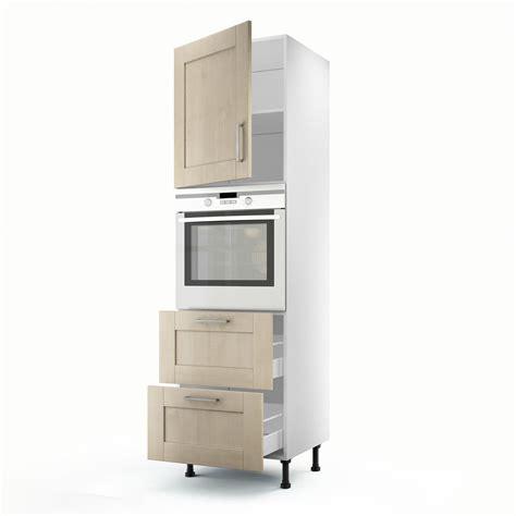 colonne cuisine meuble de cuisine colonne blanc 1 porte 2 tiroirs ines h