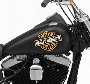 Harley Davidson Aufkleber : aufkleber logo harley davidson tenstickers ~ Jslefanu.com Haus und Dekorationen