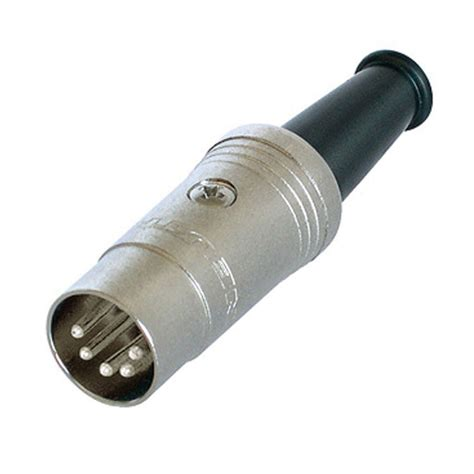 Neutrik Rubber Boot by Rean Nickel Coloured Silver Plated Nys322 5 Pole Din Plug