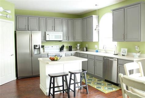 grey green kitchen cabinets gray kitchen cabinets green walls home design ideas 4066