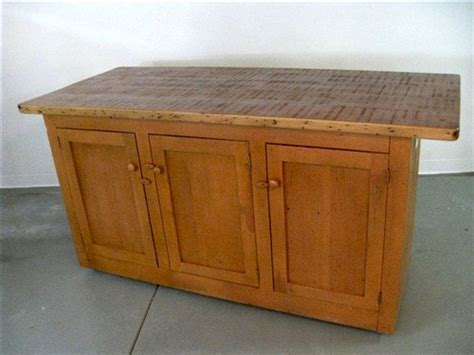 rustic pine kitchen island zinc top open base kitchen island ecustomfinishes 5020