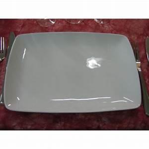 Assiette Rectangulaire Blanche : plat rectangulaire ou assiette entrecote en porcelaine blanche centre vaisselle sarl la ~ Teatrodelosmanantiales.com Idées de Décoration