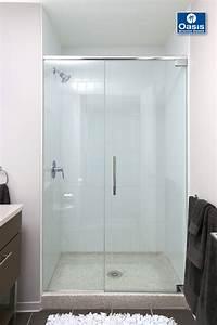 frameless shower door Frameless Glass Shower Spray Panel | Oasis Shower Doors MA, CT, VT, NH