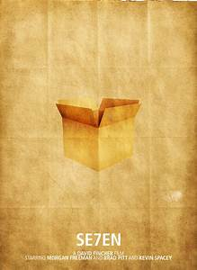 Seven Movie and Minimalist Posters | Final Year Research  Seven
