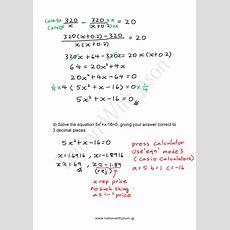 Emath  Quadratic Equations Word Problems (3)  Singapore Additional Math (amath) And Math (e
