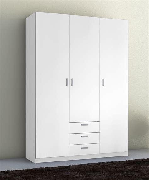 armarios de 3 puertas armario 3 puertas y 3 cajones de 150 cms en color blanco
