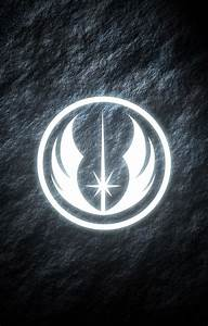 Jedi Order Star Wars phone wallpaper. Glowing symbol. | My ...