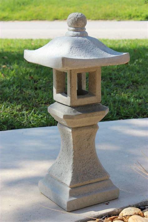 pagoda concrete lantern japanese garden yard