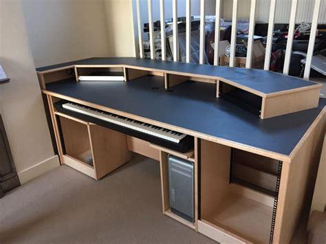 recording studio furniture custom built maple desk