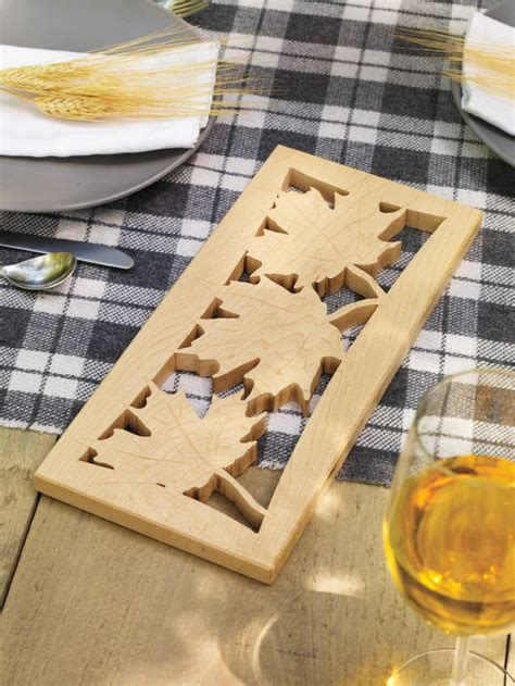 combine  design  maple leaves  ample wood    canadian trivet  canadaday