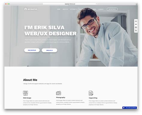 30 best vcard themes 2017 for your resume