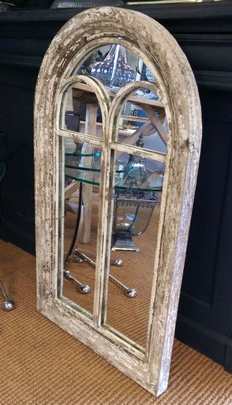 large white ornate mirror scroll mirror resin composite