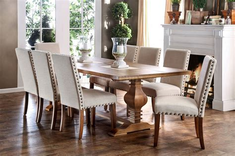 9 dining room table macapa transitional style 9 piece dining table set