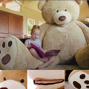 200 Cm Teddy : 2018 wholesale 200cm new teddy bear skin giant luxury plush extra large teddy bear cost dark ~ Frokenaadalensverden.com Haus und Dekorationen