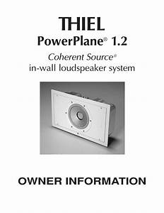 Download Free Pdf For Thiel Powerplane 1 2 Speaker Manual