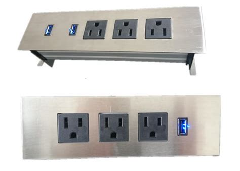 hotel ls with outlets and usb 3 outlets furniture power strip embedded tabletop