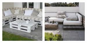 Coussin Pour Salon De Jardin En Palette : 50 id es originales pour fabriquer votre salon de jardin en palette ~ Teatrodelosmanantiales.com Idées de Décoration