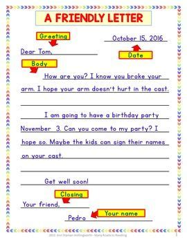 writing thoughtful friendly letter grades   teaching
