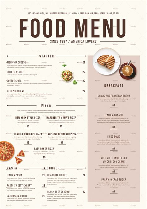 menu cuisine modern food menu by tokosatsu graphicriver