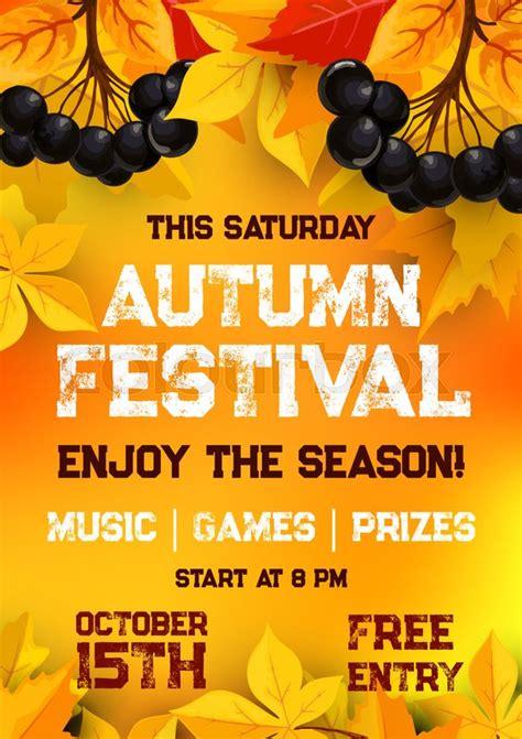 fall festival  autumn harvest poster template autumn