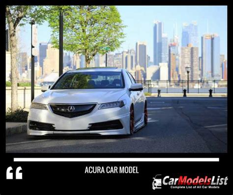 Acura Car Models by Acura Car Models List Complete List Of All Acura Models