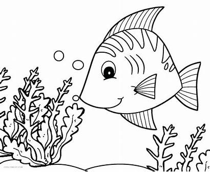 Fish Coloring Pages Tropical Printable Butterfly Cool2bkids