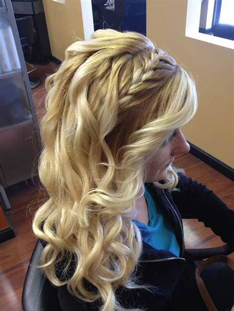 Braided And Curled Hairstyles by 20 Hairstyles For Braided Hair Hairstyles Haircuts